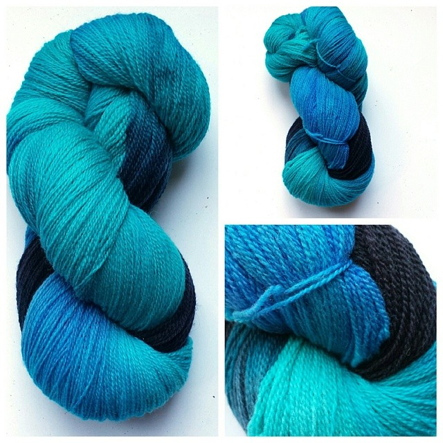 yarn dyed with gel food coloring