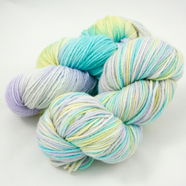 "Hand Dyed 100% Merino Wool DK Weight Yarn, ""Pastel Party"" 246 yards"