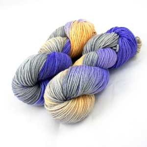 "Hand Dyed 100% Merino Wool DK Weight Yarn, ""Ezra"" 246 yards"