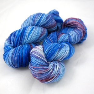 "Hand Dyed 75/25% Superwash Merino Wool & Nylon Sport Weight Yarn, ""Expirated"" 274 yards"