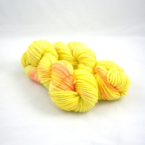 "Hand Dyed 70/30% Peruvian Highland Wool & Superfine Alpaca Bulky Weight Yarn, ""Last Days of Summer"" 110 yards"