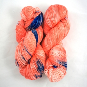 "Hand Dyed 75/25% Superwash Merino Wool & Nylon Fingering Weight Yarn, ""Koi"" 462 yards"