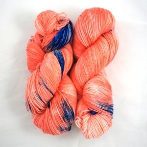 """Hand Dyed 75/25% Superwash Merino Wool & Nylon Fingering Weight Yarn, """"Koi"""" 462 yards"""